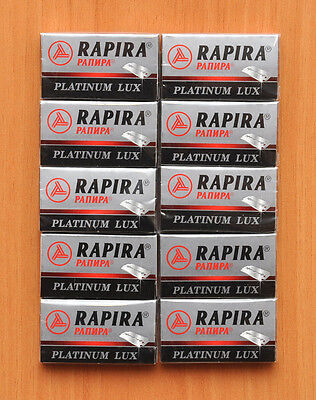 50 New Platinum Lux Rapira Double Edge Safety Razor Blades