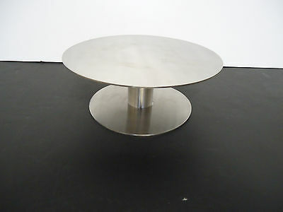 "Hubert Bon Chef 17587 8"" dia x 3""  Stainless Pedestal Display Stand Cake Dessert"