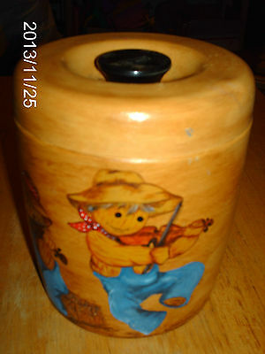 VINTAGE WEST BEND SMALL CANISTER OR CONTAINER /PATENT APPLIED FOR /METAL