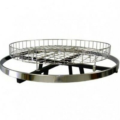 """FREE SHIPPING! 30"""" Chrome Topper Basket For Round Clothes Rack"""