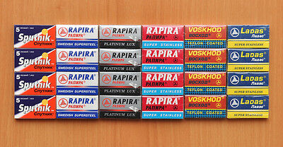 120 Mixed Rapira Sputnik Voskhod Double Edge Safety Razor Blades New 100