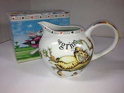 PAUL CARDEW ALICE IN WONDERLAND CREAMER PITCHER CHESHIRE CAT 2010 NEW IN BOX!
