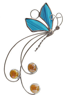 Handcrafted Stained Glass Parisian Butterfly Suncatcher
