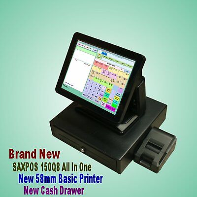 SAXPOS S6301 Complete Touchscreen Point of Sale (POS) System + Customer Display