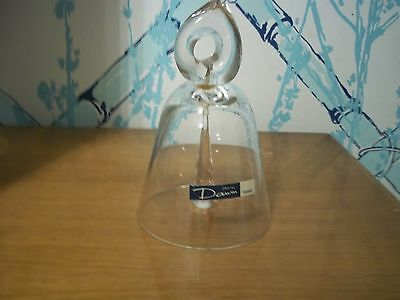 RARE VINTAGE DAUM CRYSTAL BELL MADE IN FRANCE--- SIGNED PIECE--MINT CONDITION