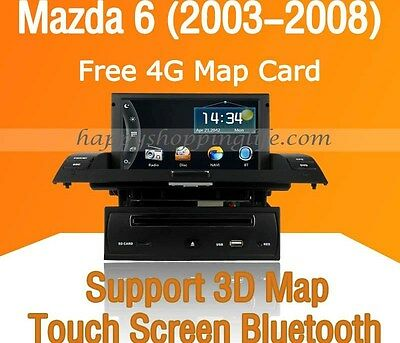 1 Din Car DVD Player Stereo GPS Navigation Touch Screen for Mazda 6 (2003-2008)