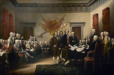 Wall Poster.Signing of declaration of independence Art Design.Room Home art.1575
