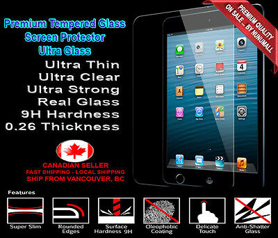 Tempered Glass Screen Protector for Apple iPad Air /2 Ultra Thin 9H 0. 26mm 2.5D