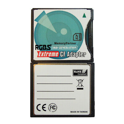 Extreme CompactFlash Card Adapter SD SDXC SDHC WIFI SD to Type II CF, up to 64GB