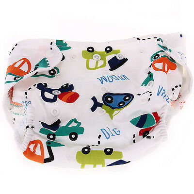 Baby Infant Diaper Nappy Cover Cartoon Cars Breathable Reusable
