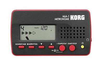 Korg MA1 Digital Metronome Drum Guitar Piano MA1RD - Red