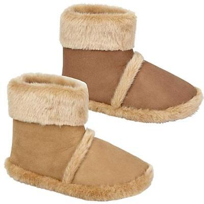 Mens Faux Suede Warm Fur Winter Slip On Bootie Slippers Ankle Boots Shoes Size