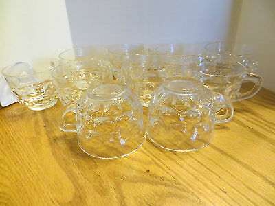 10 Federal Thumbprint Colonial Jubilee Yorktown Punch/Snack Cups
