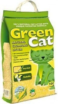 Green Cat Natural Clumping Cat Litter Eliminates Odour Absorbent Biodegradable 2