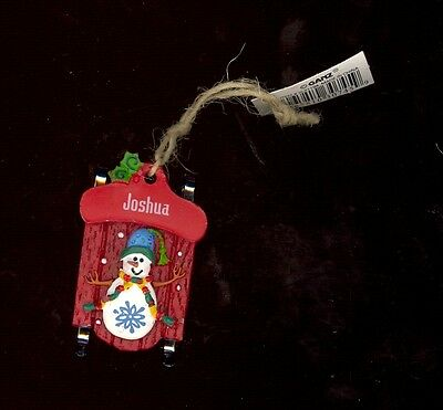 Ganz Snowman Sleigh Sled Ornament Personalized /'Lindsay/' ~ Stocking Stuffer ~