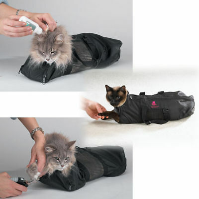Cat Grooming Nail Clipping Bathing Bath Bag NO BITE SCRATCH Restraint System*LRG
