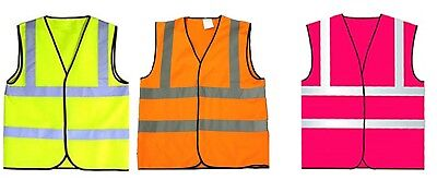 Child Hi Viz Reflective Waistcoat Vest 3 Colours, 3 Sizes Visibility kids Vest