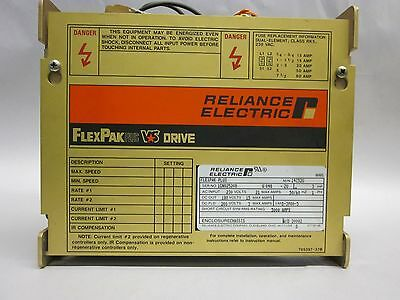 Reliance Electric FlexPak Plus Drive 14C52U 3HP
