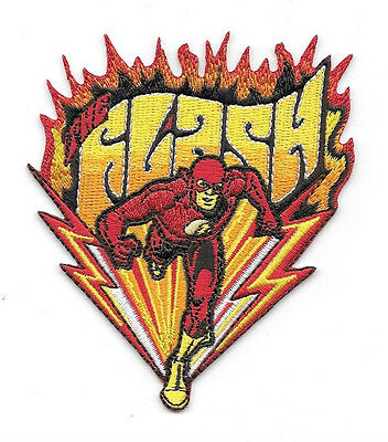 DC Comics The Flash Running Figure and Name Logo Embroidered Patch, NEW UNUSED