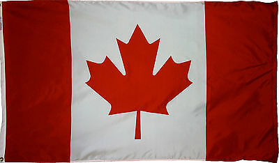 CANADA INTERNATIONAL COUNTRY 5x8 ft  FLAG OUTDOOR NYLON MADE IN USA