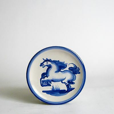 Mary Alice Hadley Pottery Blue Horse Bread Plate-Louisville Pottery
