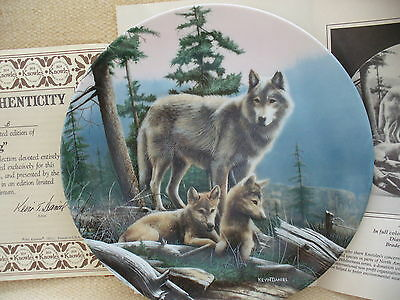 "Knowles Collectors Plate  Call of the Wilderness ""First Outing"""