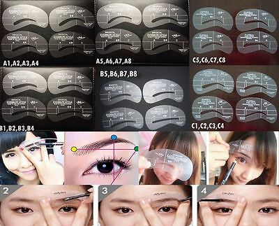 Pochoir sourcils 24 styles 6 kits de 4  Maquillage eyeliner  sourcil