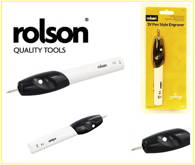 3V Rolson Tools Pen Style Engraver Etcher Wood Glass Metal Leather Steel Mobile
