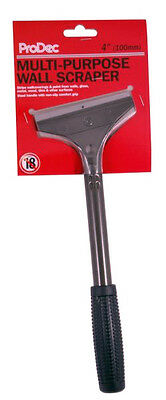 """ProDec Long Handle Wall Scraper 4"""" Inch / 100mm Blade Pre Fitted (LHWS)"""