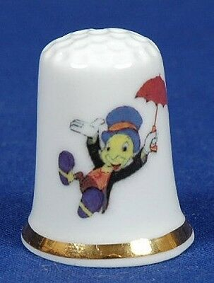 Jiminy Cricket Bone China Thimble. B/64