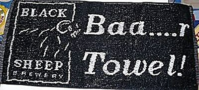 Black Sheep Brewery Cotton Bar Towel from England (pp)