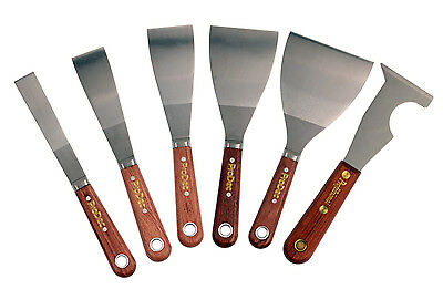 ProDec Rosewood Paint Scraper Scale Tang Stainless Steel Blade 6 Sizes Available