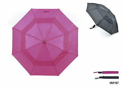 Drizzles Wind Resistant Double Canopy Auto Compact Umbrella