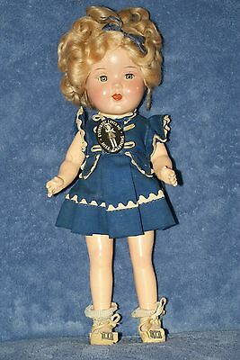 "Vintage 13"" Goldberger ""Miss Charming"" Compo Doll (Shirley Temple Look Alike)"