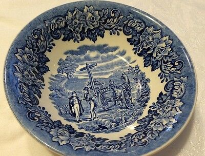 Staffordshire J & G Meakin Avondale Ironstone Cereal BOWL Blue/White England