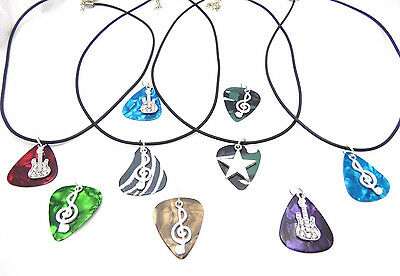 Guitar Pick Necklace - Pick Color and Pendant