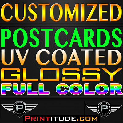 """2500 POSTCARDS 2.75""""x8.5"""" FULL COLOR GLOSSY 2 SIDED 2.75X8.5 CUSTOM PRINTED"""