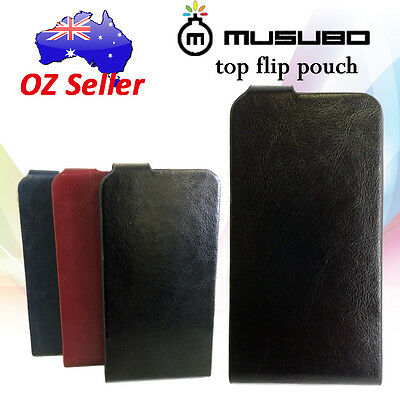 Genuine Musubo Leather Flip cover case pouch For Samsung Galaxy S4 Mini i9190