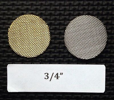 """3/4 inch brass tobacco pipe screen filter - 10 count - high quality - 0.75"""""""