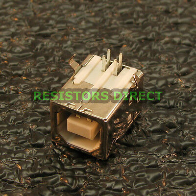 10x USB Type B Female Right Angle PCB Mount Socket Port Connector 10pcs U81