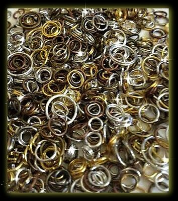 Mixed Split & Jump Rings. Various Sizes & Colours. Packs 50 -100 -200 -500 -1000