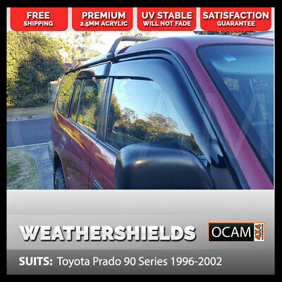OCAM Weathershields Visors For Toyota Landcruiser Prado 90 Series 96-02