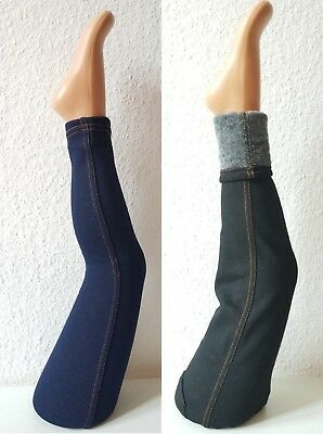 Winterleggings-Jeans-Optik GR.98-170 Mädchen Leggins Fell Hose Thermo  Kinder