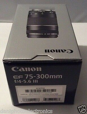 NEW Canon EF 75-300mm f/4-5.6 III Lens FREE SHIPPING