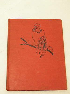 Rare Vintage Red Rooster Error Bound Upside Down 1950 Childrens Book Boutwell