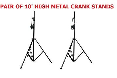Pair (2) DJ CRANK Portable Trussing System Steel Tripod Stands For Stage Lights