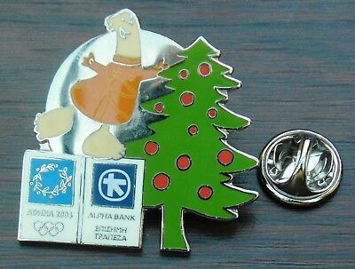 2004 Athens Olympic Lapel Hat Tie Cap Metal Pin Badge Christmas Brooch
