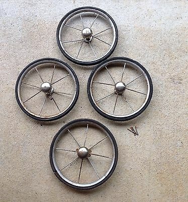 Antique Vintage Welsh Baby Carriage Wheels 1950 S