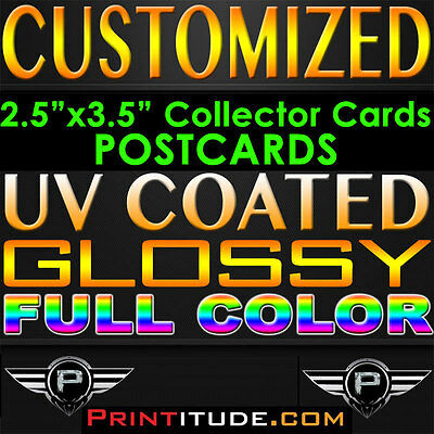 "10000 POSTCARDS 2.5""x3.5"" FULL COLOR GLOSSY 2 SIDED 2.5x3.5 CUSTOM PRINT +Design"