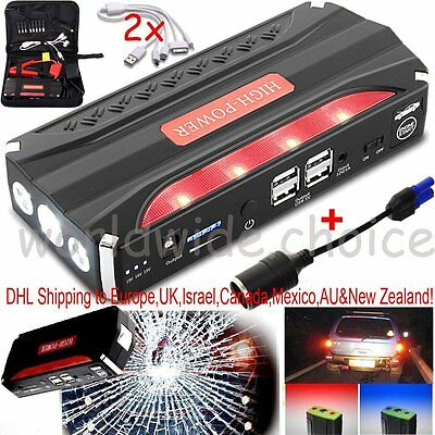 18000mAh 12V Auto Jump Starter Car Emergency Charger Booster Power Bank Battery